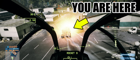 Battlefield 3: Air Strike Victim Simulator