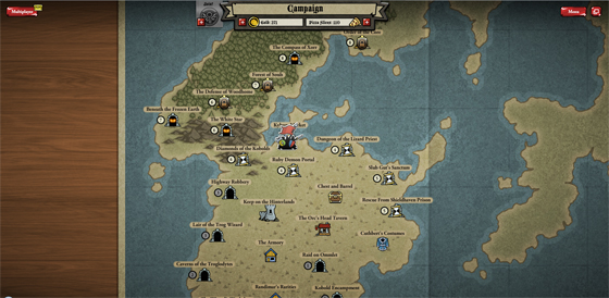 Dungeons galore in the single player campaign