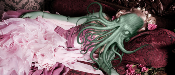 In his boudoir at R'lyeh, dead Cthulhu waits dreaming.