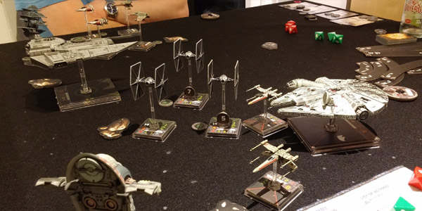 X-Wing purists would probably choke on their Mountain Dew at this setup.